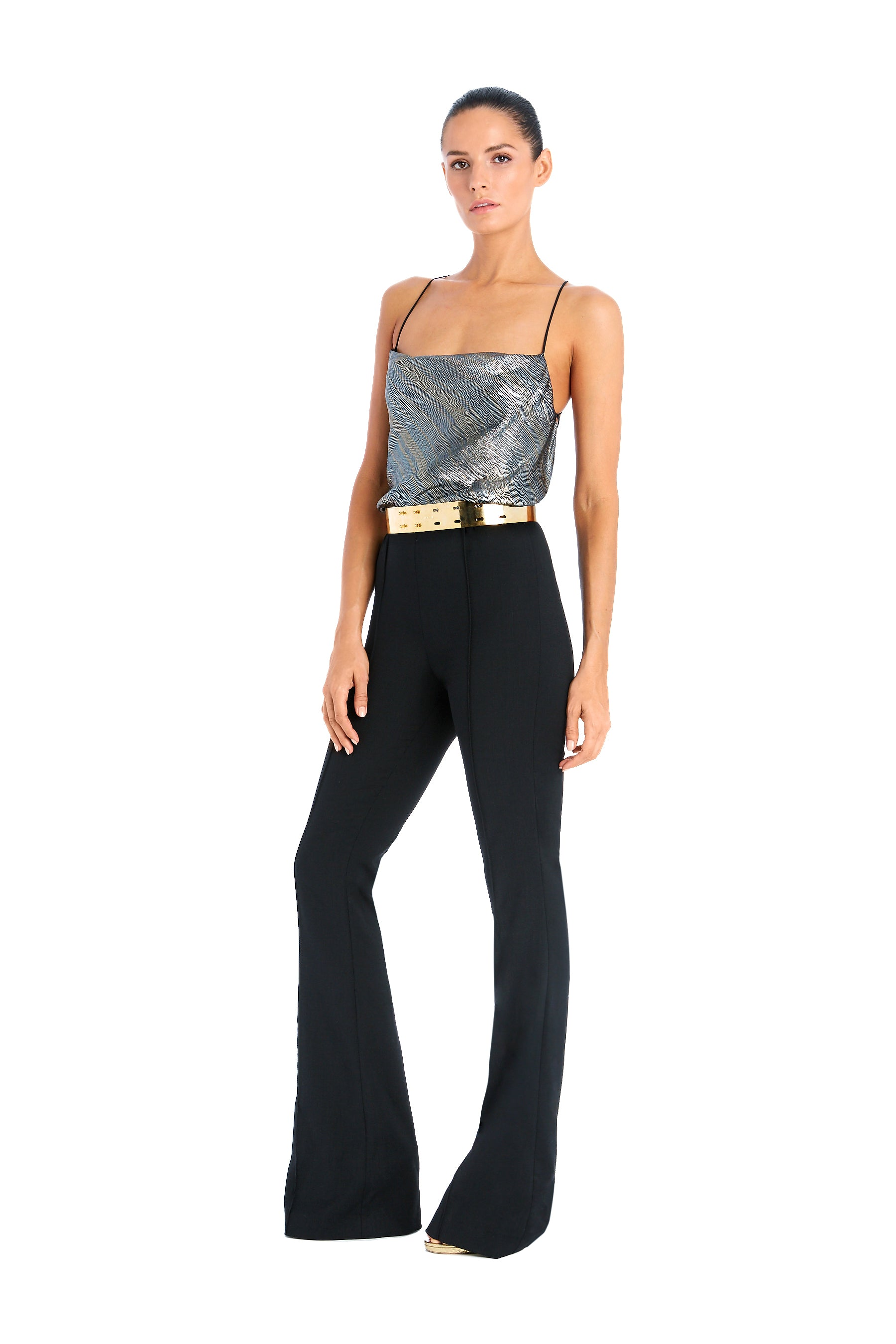 Mia Jumpsuit With Metallic Lame Bodice