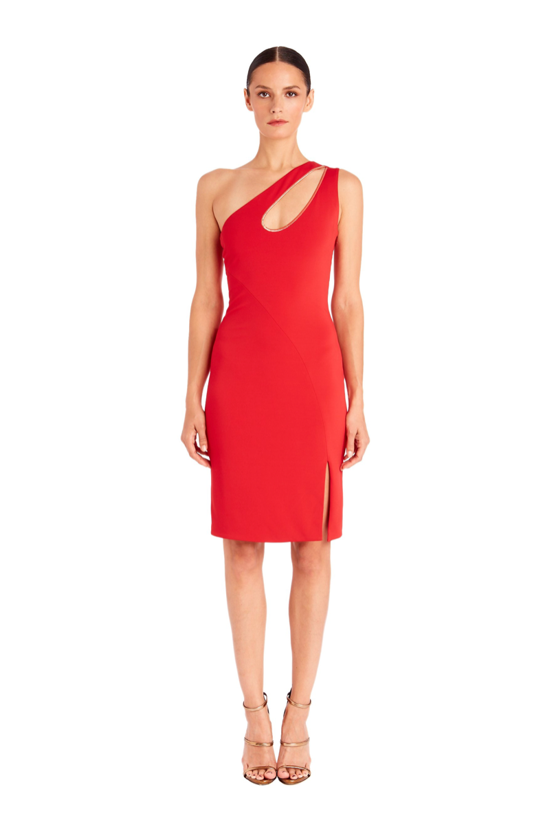 Donna One-Shoulder Dress With Cut-Out