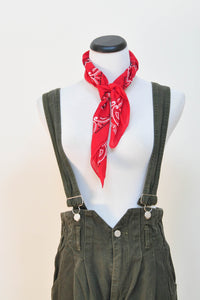 "Tapered ""Hot in the Gang"" Overall Suspender Jeans  S  to M"