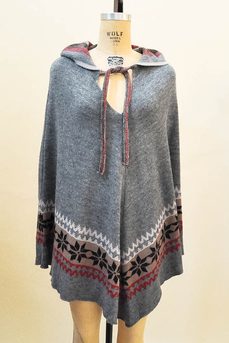 Heather Nordic Hooded Cape