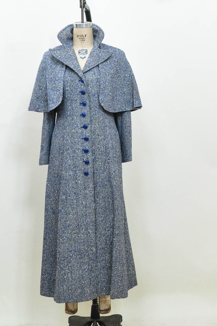 tweed coat, vintage tweed maxi coat