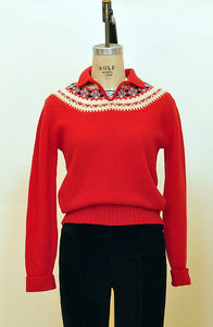 Vintage Alpine Ski Sweater