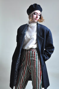 Stellar NYC 80s RETRO Black Tweed Zoot Coat
