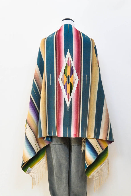 Vintage Antique Mexican Serape Saltillo