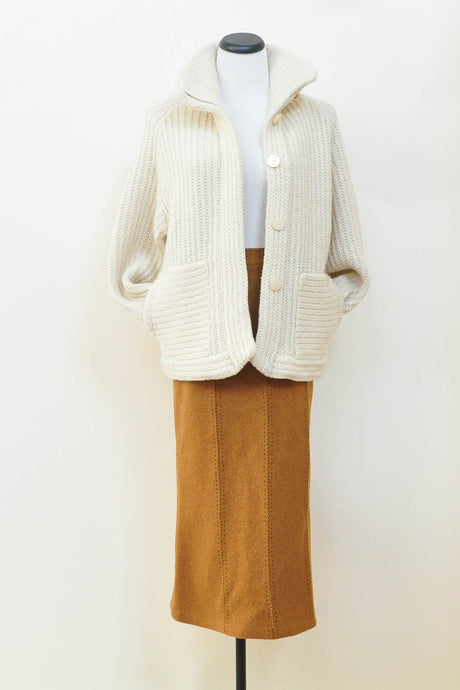 Chunky Vintage Wool Sweater Coat 1970s