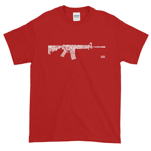 AR-15 from words of 2nd Amendment T-Shirt