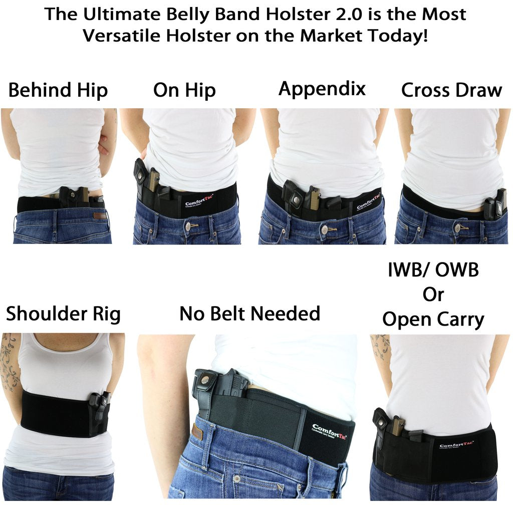 Concealed-Carry Belly Band Holster (no belt needed)