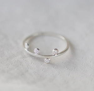 Diamond Dusted Small Steps Ring
