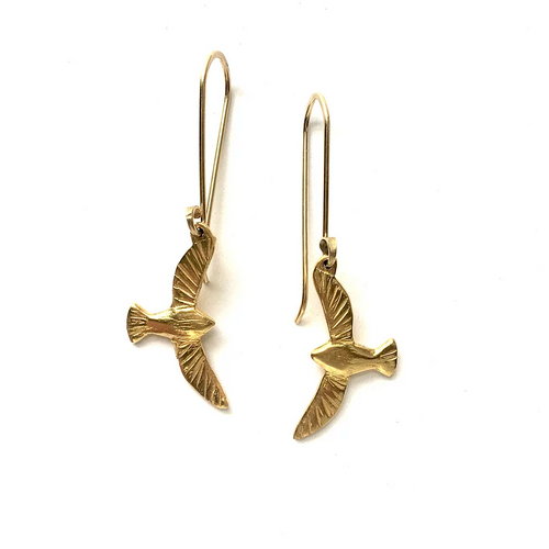 Maggie Bokor: Bird in Flight Leverback Earrings