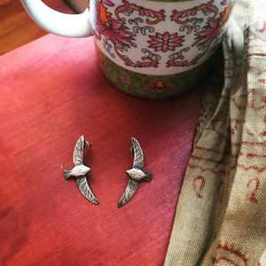Bird in Flight Post Earrings