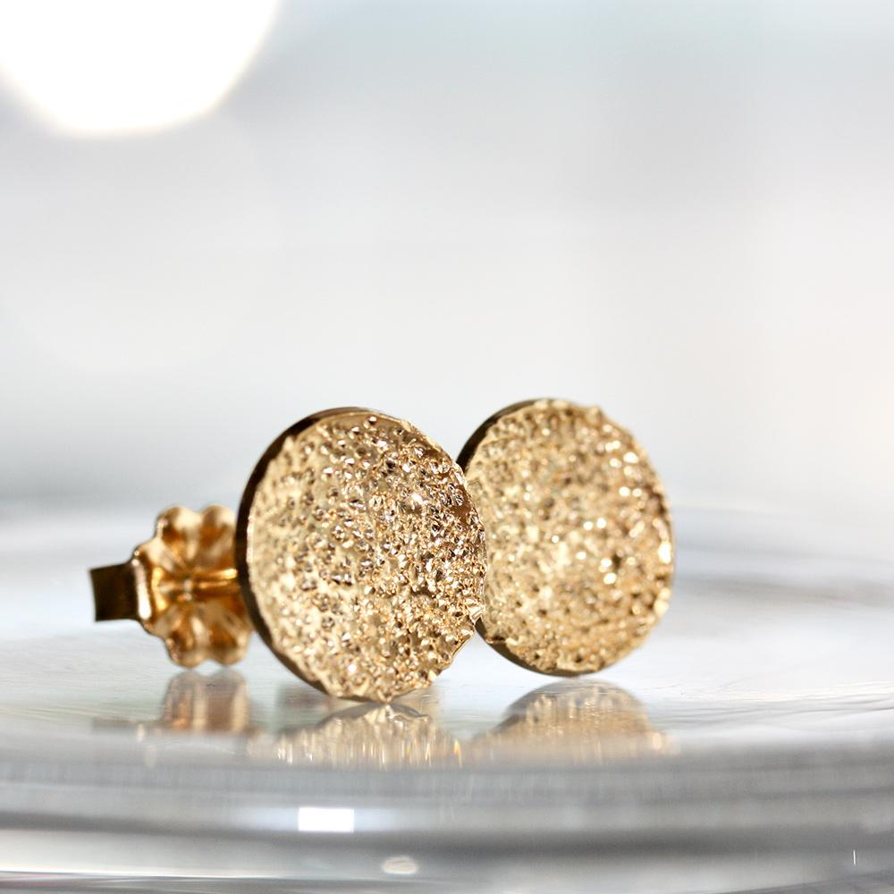 Diamond Dusted Dot Studs