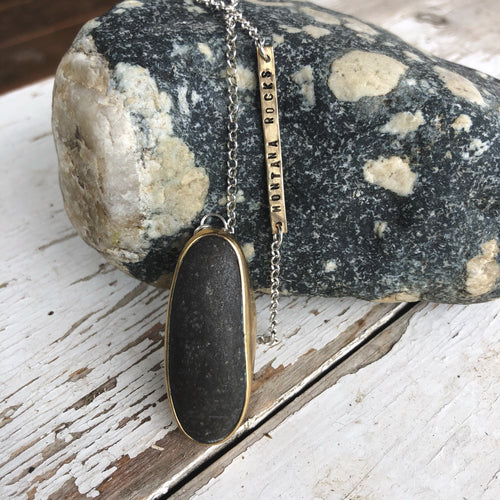 Long Single Stone Pendant