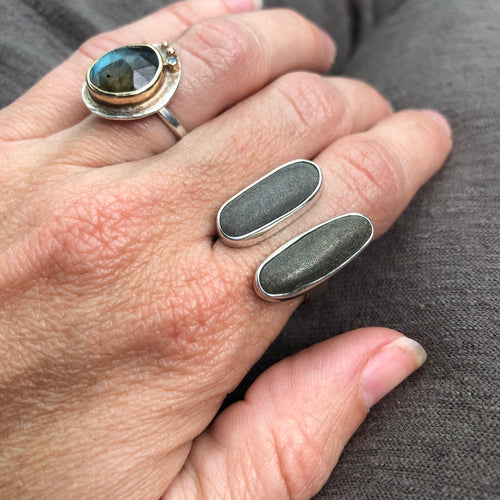 Maine Rocks Double Adjustable Stone Rings