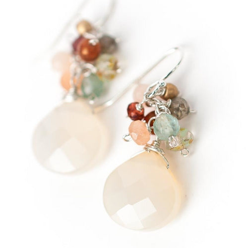Gentle Breeze Cluster Earrings