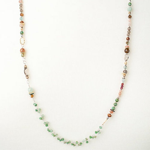 Gentle Breeze Gemstone Collage Necklace