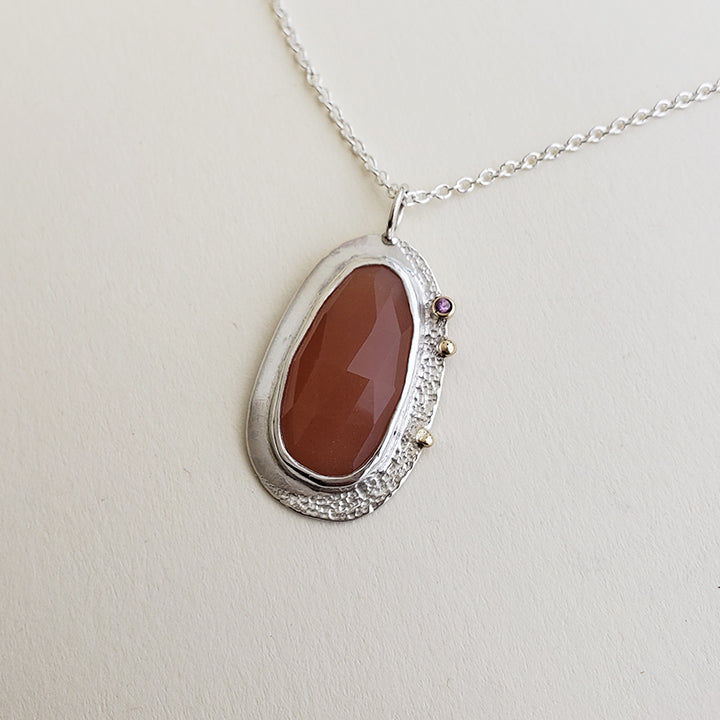 LIMITED EDITION: Peach Moonstone Tide Pendant