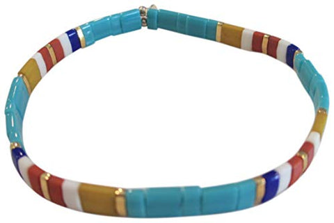 SHASHI Women's Tilu Navajo Turquoise Colored Stretch Bracelet