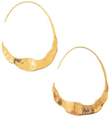 Chan Luu 18K Gold Plated Crescent Moon Hoop Earrings
