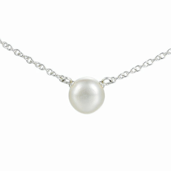 Dogeared Pearls of Friendship Small Sterling Silver White Pearl Necklace