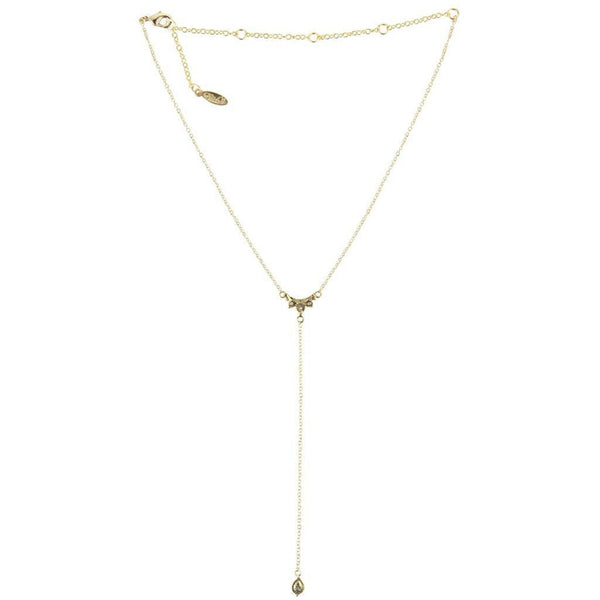 Ettika Wanna Be Loved Gold Tone Y Necklace