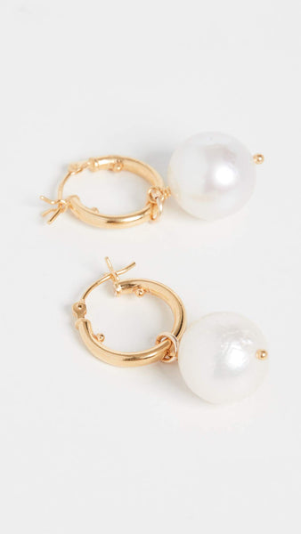 Chan Luu Women's White Pearl Earrings