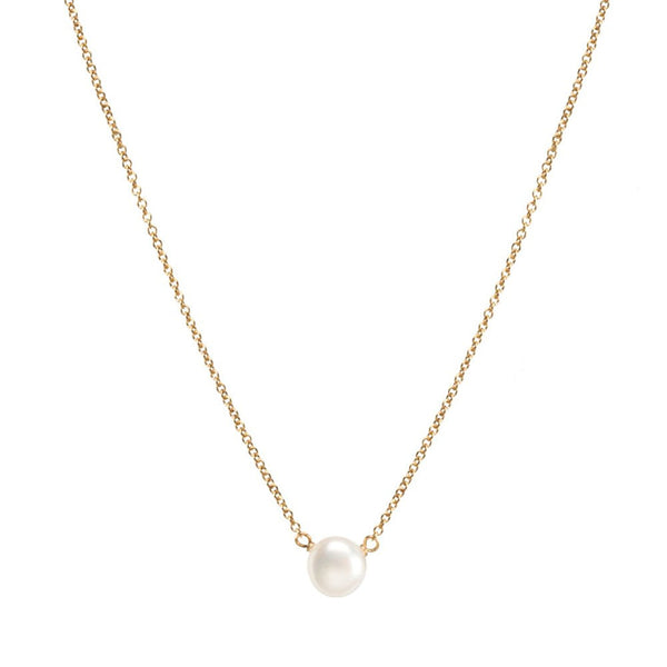 "Dogeared Gold Filled Pearls of Strength Small Freshwater Cultured 16"" with 2"" Ext. Necklace"