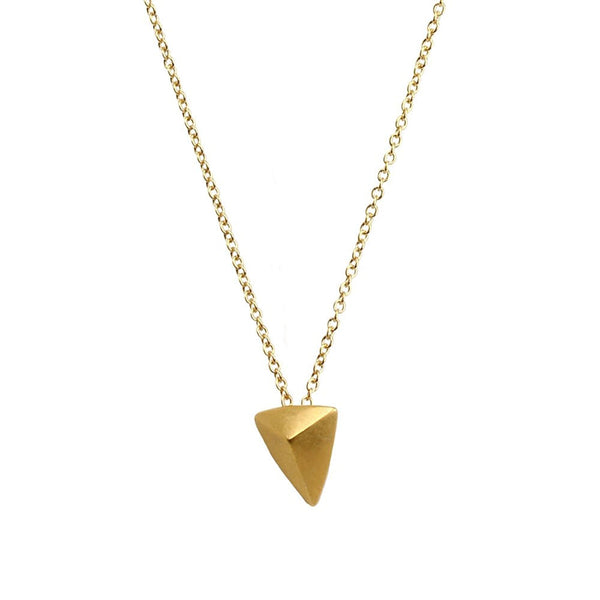 Dogeared You Are Mighty Gold Dipped Pyramid Necklace