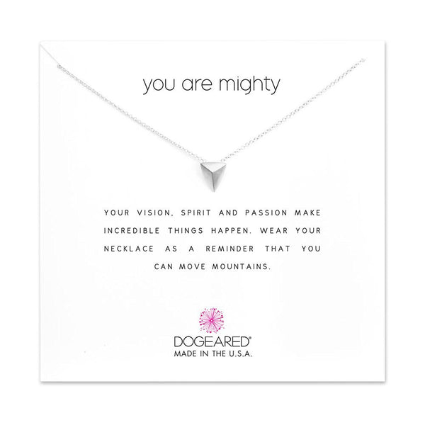Dogeared You Are Mighty Pyramid Necklace