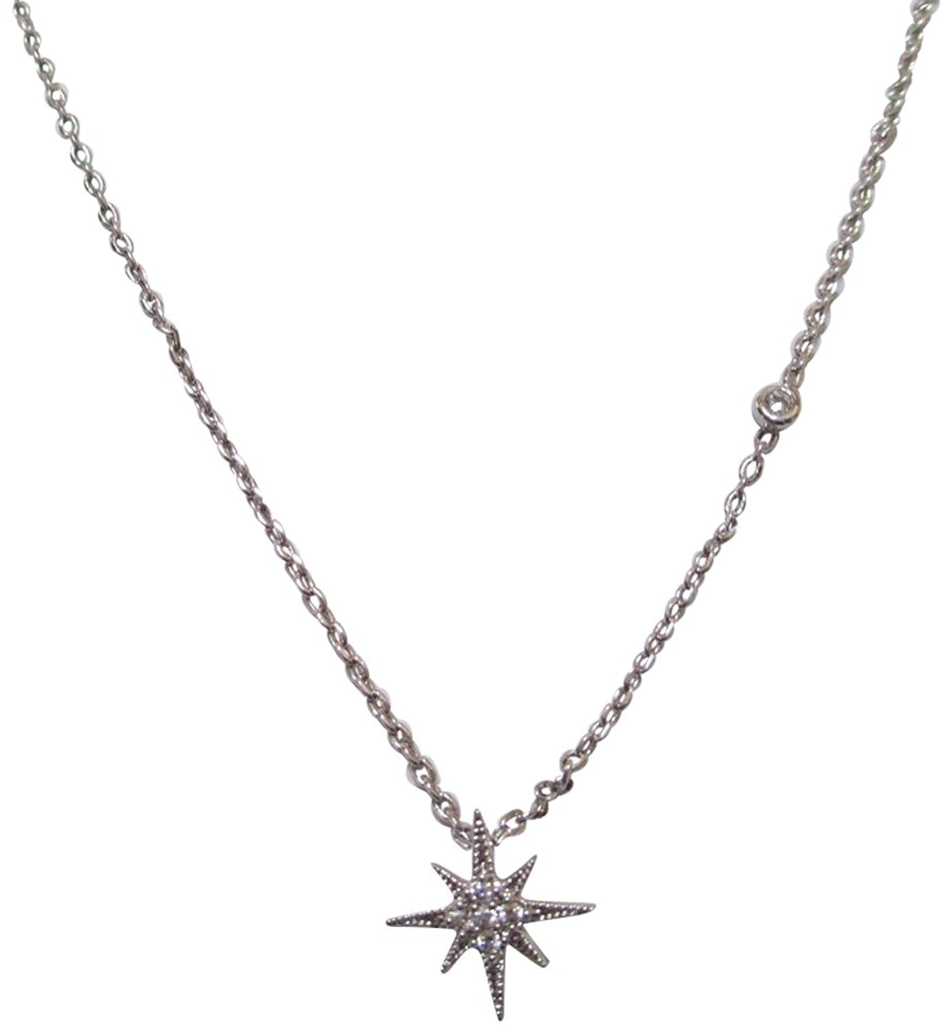 Tai Silver Plated Starburst Dainty Necklace