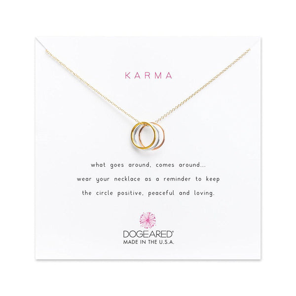 Dogeared Karma Triple Ring Necklace