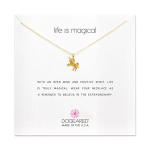 Dogeared Life Is Magical Unicorn Necklace
