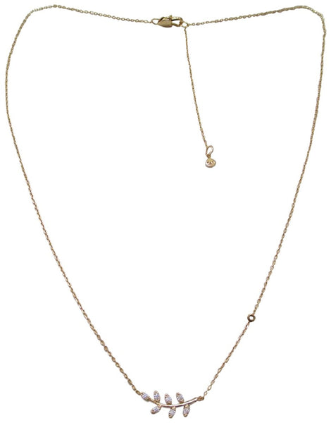 Tai 18k Gold Plated Leaf Shaped Dainty Necklace