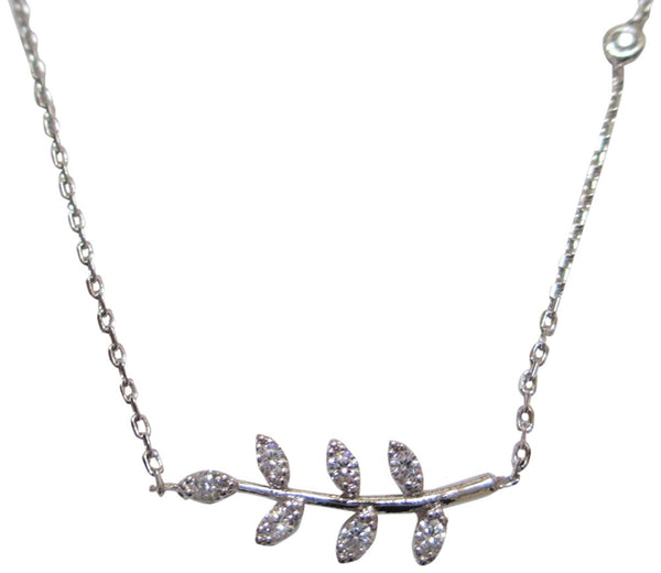 Tai Silver Plated Leaf Shaped Dainty Necklace