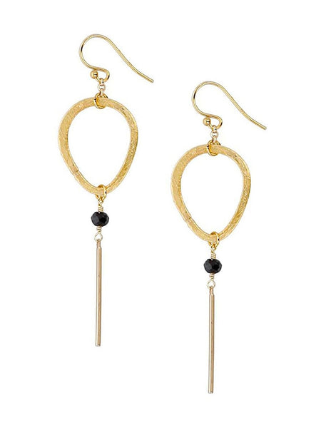 Chan Luu Gold Tone Midnight Open Drop Stick Dangle Earrings