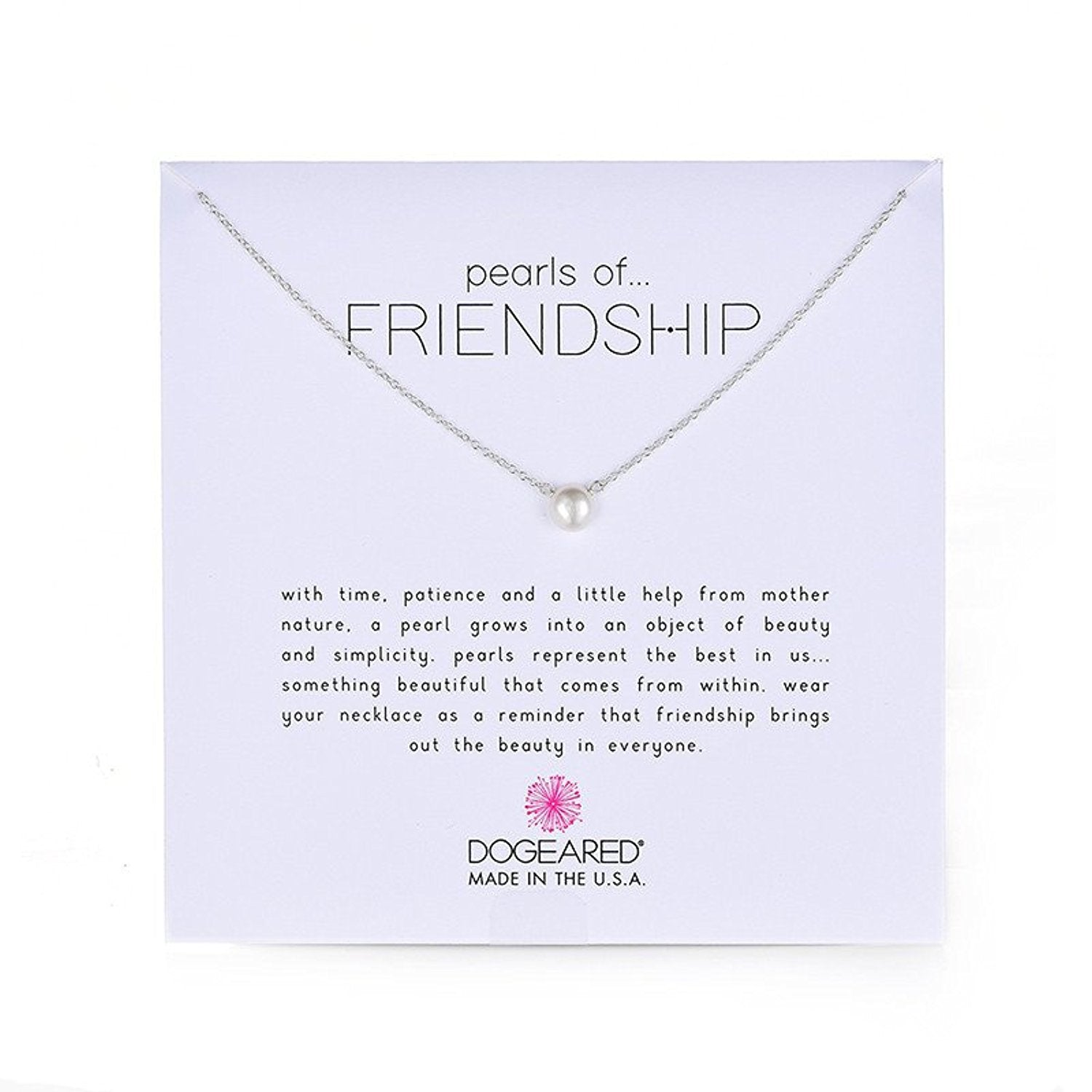 Dogeared Pearls of Friendship Small White Pearl Necklace