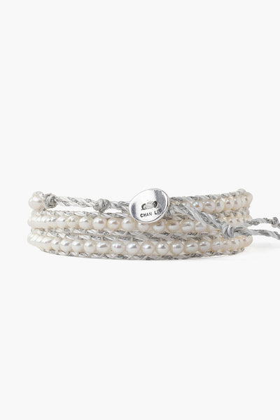 Chan Luu White Freshwater Cultured Pearl Triple Wrap Bracelet