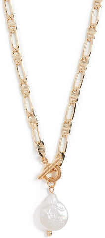 Shashi Women's Maverick and Pearl Sovereign Necklace, Gold/Pearl