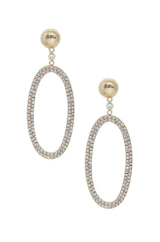 Ettika Stargazer Oval Hoops, Gold Plated Earrings