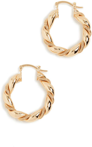 Shashi Women's So Twisted Hoop Earrings