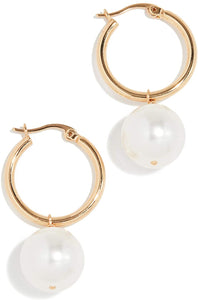 Shashi Women's Jasmin 18K Gold Plated Pearl Drop Earrings