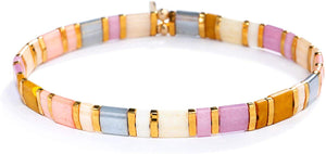 SHASHI Women's Tilu Princess Blush Stretch Bracelet