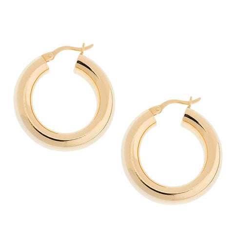 SHASHI Dominique Gold Plated Hoop Pierced Earrings