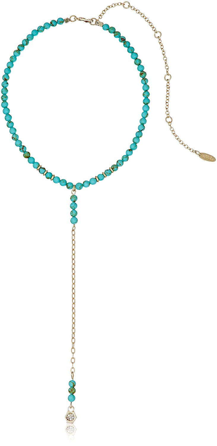 Ettika Call Me Maybe Turquoise with Disc Choker Necklace