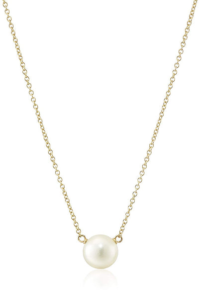 "Dogeared Pearls of Happiness Freshwater Cultured Pearl Gold Filled Necklace,16"" +2"" Extender"