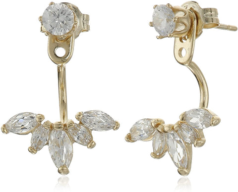 SHASHI Marquise Gold Plated Earring Jackets