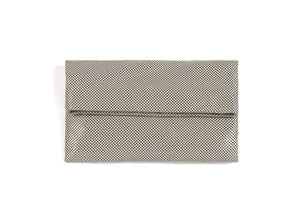 Shiraleah Jaden Metallic Grey Clutch Envelope Bag