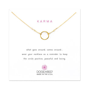 Dogeared Original Classic Karma Necklace