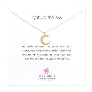 Dogeared Light Up The Sky Crescent Moon Necklace