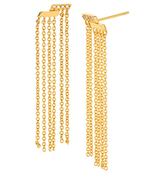 Gorjana Petra Shimmer Fringe Chain Earrings