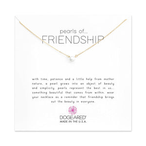 Dogeared Pearls Of Friendship Small Pearl Necklace
